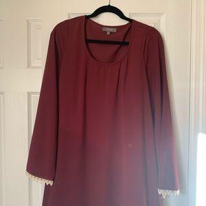 Red Wine Wide Sleeve Festival Dress